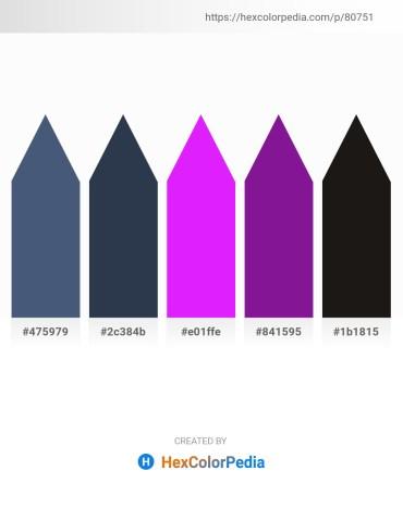 Palette image download - Dark Slate Blue – Dark Slate Gray – Dark Violet – Dark Orchid – Black