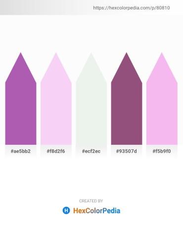 Palette image download - Medium Orchid – Brown – White Smoke – Burlywood – Violet