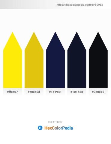 Palette image download - Yellow – Gold – Midnight Blue – Midnight Blue – Sienna