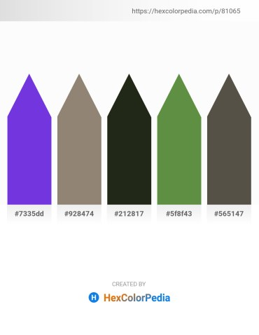 Palette image download - Blue Violet – Gray – Orchid – Dark Olive Green – Dim Gray