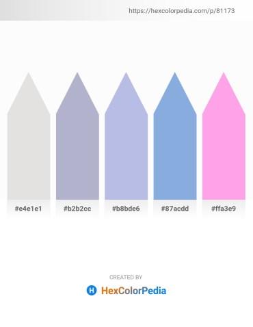 Palette image download - Gainsboro – Light Steel Blue – Light Steel Blue – Sky Blue – Pink