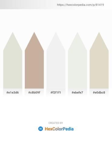 Palette image download - Gainsboro – Rosy Brown – White Smoke – White Smoke – Tan
