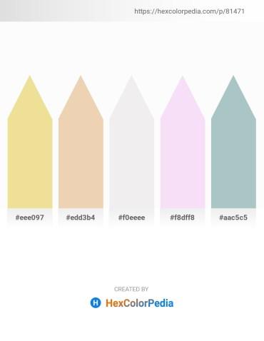 Palette image download - Khaki – Pale Goldenrod – White Smoke – Linen – Dark Sea Green