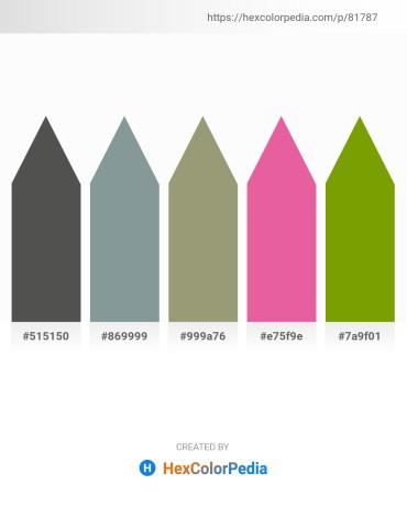 Palette image download - Dim Gray – Light Slate Gray – Gray – Pale Violet Red – Olive