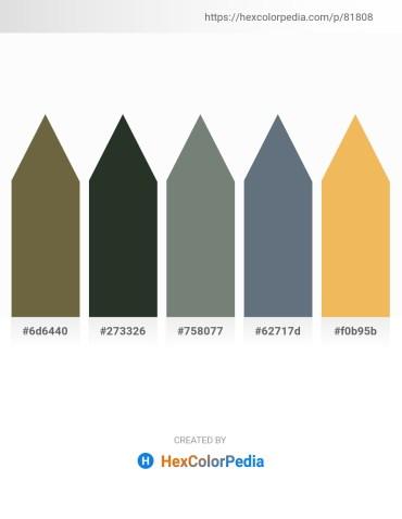 Palette image download - Dark Olive Green – Dark Slate Gray – Slate Gray – Slate Gray – Sandy Brown