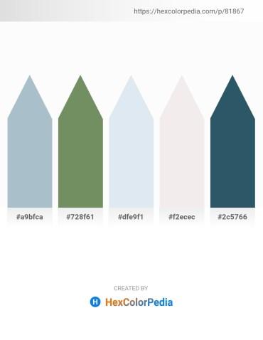 Palette image download - Light Steel Blue – Dark Sea Green – Light Steel Blue – White Smoke – Dark Slate Gray