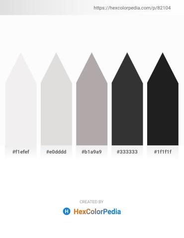 Palette image download - White Smoke – Gainsboro – Dark Gray – Black – Black