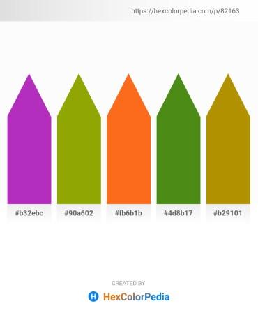 Palette image download - Dark Orchid – Olive – Dark Orange – Olive Drab – Dark Goldenrod