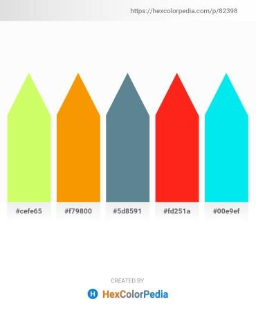 Palette image download - Green Yellow – Dark Orange – Cadet Blue – Orange Red – Aqua
