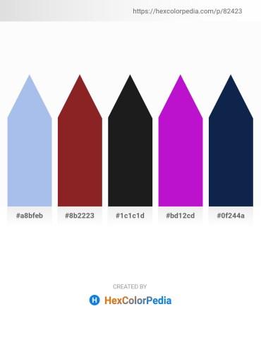 Palette image download - Light Blue – Brown – Slate Blue – Dark Violet – Midnight Blue
