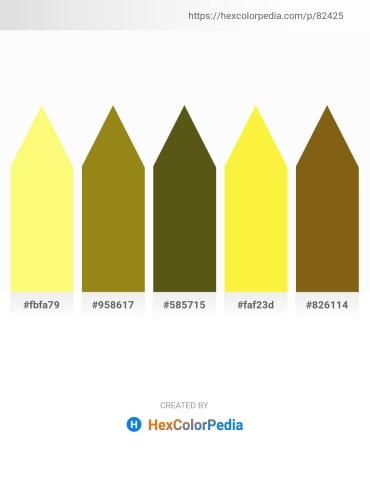 Palette image download - Khaki – Olive Drab – Midnight Blue – Yellow – Saddle Brown