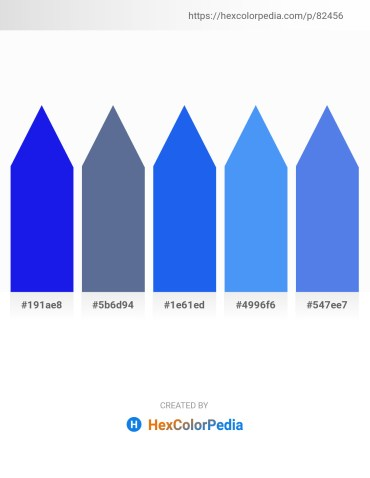 Palette image download - Blue – Slate Gray – Royal Blue – Cornflower Blue – Royal Blue