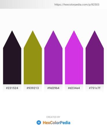 Palette image download - Black – Dark Goldenrod – Dark Orchid – Blue Violet – Midnight Blue