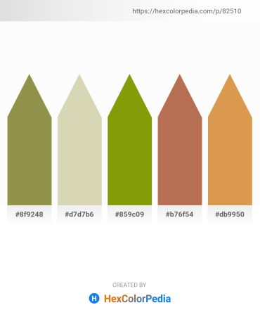 Palette image download - Dark Khaki – Tan – Olive – Indian Red – Peru
