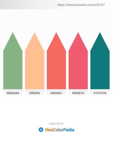 Palette image download - Dark Sea Green – Light Salmon – Salmon – Light Coral – Teal