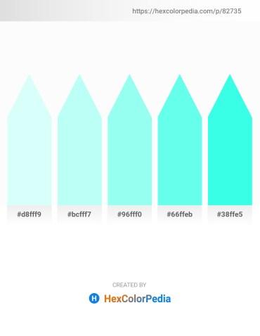 Palette image download - Light Cyan – Light Cyan – Aquamarine – Aquamarine – Aqua