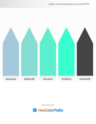 Palette image download - Light Steel Blue – Light Blue – Turquoise – Aqua – Dark Slate Gray