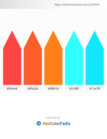 Palette image download - Tomato – Tomato – Dark Orange – Aqua – Aqua