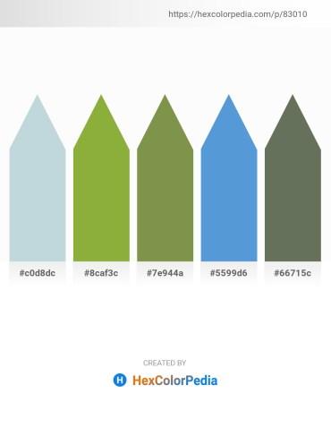 Palette image download - Light Steel Blue – Yellow Green – Dark Olive Green – Yellow – Dim Gray