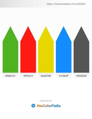 Palette image download - Olive Drab – Red – Gold – Dodger Blue – Dim Gray