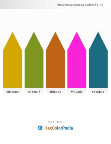 Palette image download - Orange – Olive Drab – Chocolate – Magenta – Gray