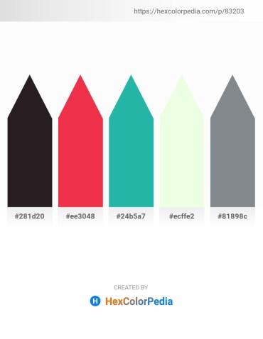 Palette image download - Black – Crimson – Light Sea Green – Honeydew – Slate Gray