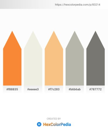 Palette image download - Coral – White Smoke – Sandy Brown – Dark Gray – Gray