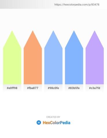 Palette image download - Yellow – Light Salmon – Light Sky Blue – Light Sky Blue – Firebrick