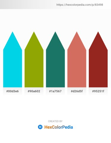 Palette image download - Dark Turquoise – Olive – Sea Green – Indian Red – Brown