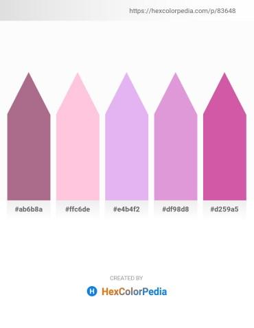 Palette image download - Rosy Brown – Pink – Lavender – Plum – Pale Violet Red