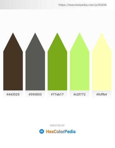 Palette image download - Dim Gray – Dim Gray – Olive Drab – Pale Green – Lemon Chiffon