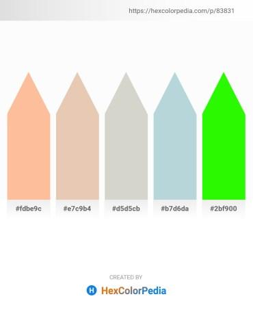 Palette image download - Navajo White – Burlywood – Light Gray – Light Steel Blue – Lime