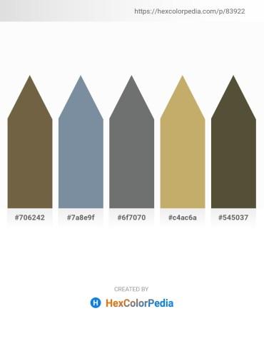 Palette image download - Dark Olive Green – Light Slate Gray – Slate Gray – Dark Khaki – Dark Olive Green