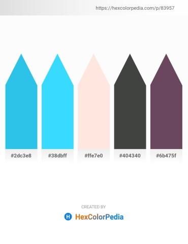Palette image download - Turquoise – Deep Sky Blue – Misty Rose – Dark Slate Gray – Medium Aquamarine