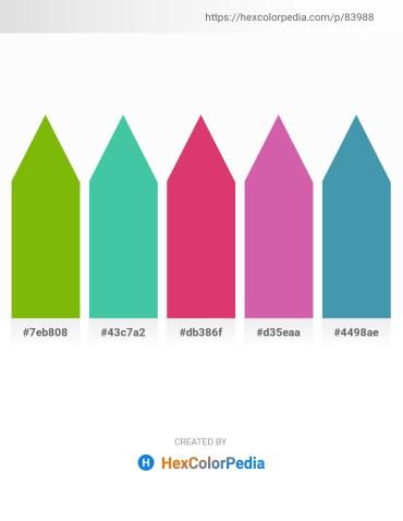 Palette image download - Olive – Medium Aquamarine – Medium Violet Red – Pale Violet Red – Steel Blue