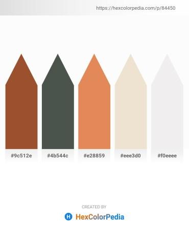 Palette image download - Sienna – Dark Slate Gray – Dark Salmon – Beige – White Smoke