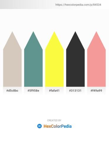 Palette image download - Silver – Cadet Blue – Yellow – Black – Light Coral