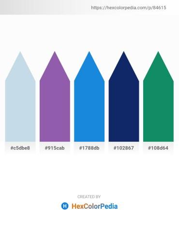 Palette image download - Light Steel Blue – Slate Blue – Royal Blue – Midnight Blue – Teal