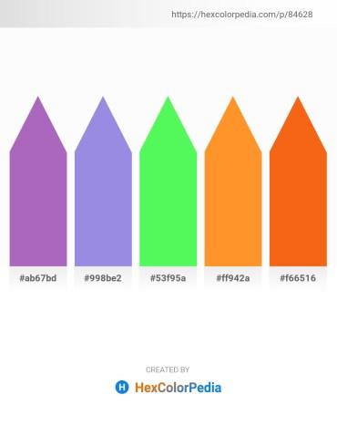 Palette image download - Medium Orchid – Medium Purple – Pale Green – Dark Orange – Orange Red