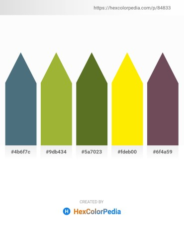 Palette image download - Cadet Blue – Yellow Green – Olive Drab – Yellow – Dim Gray