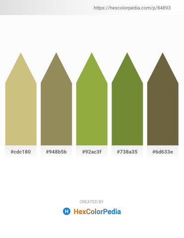 Palette image download - Tan – Dark Khaki – Yellow Green – Dark Olive Green – Dark Olive Green