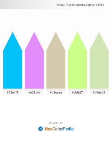 Palette image download - Deep Sky Blue – Cadet Blue – Tan – Pale Green – Beige