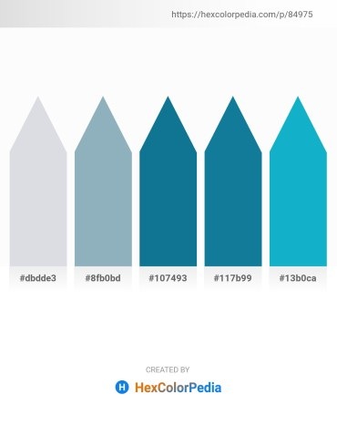 Palette image download - Light Steel Blue – Cadet Blue – Dark Cyan – Dim Gray – Light Sea Green