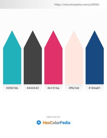 Palette image download - Light Sea Green – Dim Gray – Medium Violet Red – Misty Rose – Midnight Blue