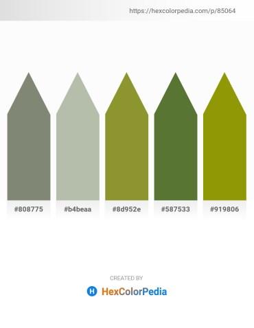 Palette image download - Gray – Dark Sea Green – Olive Drab – Dark Olive Green – Olive