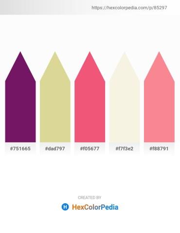 Palette image download - Purple – Tan – Light Coral – Beige – Salmon