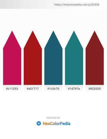 Palette image download - Crimson – Firebrick – Pale Green – Sea Green – Brown