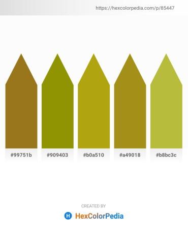 Palette image download - Sienna – Olive – Dark Goldenrod – Dark Goldenrod – Yellow Green