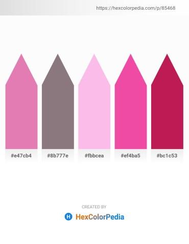 Palette image download - Pale Violet Red – Gray – Pink – Hot Pink – Crimson