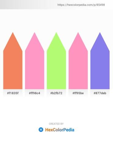 Palette image download - Sandy Brown – Light Pink – Pale Green – Light Pink – Medium Slate Blue